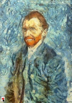 Van Gogh self-portrait by colorARTillery