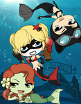 Arkham Aquarium - Gotham Mermaids by Mibu-no-ookami