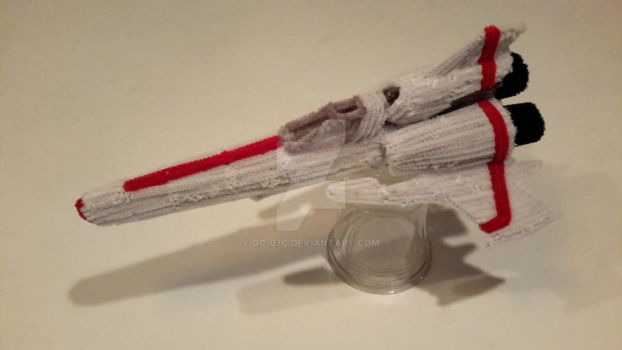 Pipe Cleaner Battlestar Galactica Viper Mark 2 - 4 by GC-07c