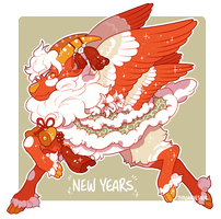 Pouflon Auction - New Years! (closed!) by tyronniesaur