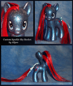 MLP G4 Custom Sparkle Sky Rocket by Alipes