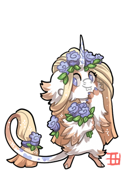 #1119 Mythical BB - Sprout - Flower Unicorn by griffsnuff