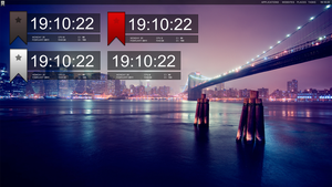 xClock for Rainmeter by KimboPrice