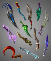 Elvish Swords by Silartworks by Silartworks