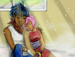 Sonic and Amy Humanized V2 by QT-Star