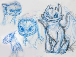 Tooth Sketches (Combined) by adrians-angel
