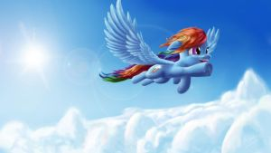 Dash over the clouds ( w\ sonic rainboom) by Asloric