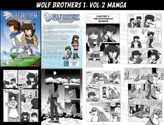 Wolf Brothers Vol.2 manga +SOLD OUT+ by krystlekmy