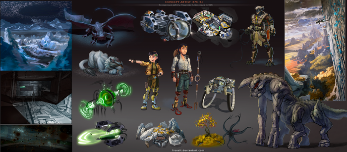 Concept artist challenge RPG2 - Compilation [2015] by froxalt