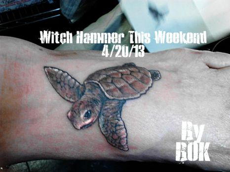 Baby sea turtle tattoo by WitchHammerTattoo
