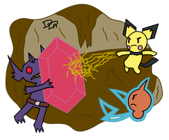 Boss Fight - Mega Sableye Lyre - Polytronic Zap by Sm-ArtThings