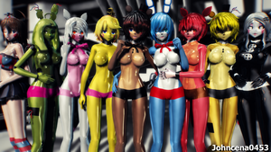 MMD X FNIA Wallpaper by JohnCena0453