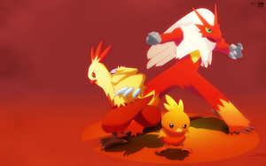 Hoenn's Fire Starters |Wallpaper| by OnlyNura