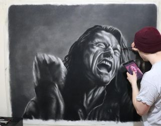 My huge drawing of Tommy Wiseau by JonARTon