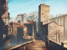 Medieval old city concept by JeSSanchez