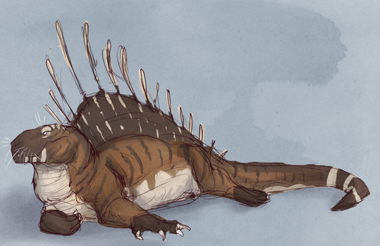 Sketchy Synapsid by MoonlostArts