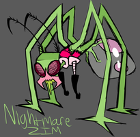 Nightmare Zim doodle thingy by ReneesRetrograde