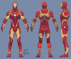 iron man armor model 37 / bleeding edge armor by tigr3ss