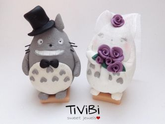Mr and Mrs Totoro by tivibi