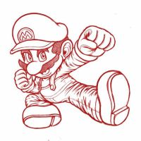 Smash Ultimate Sketch - Mario by Zack113