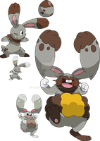 659 and 660 - Bunnelby Evolutionary Line