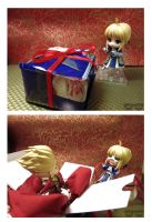What Saber Got For Christmas by eyebowl