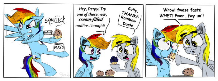 Muffin Prank by Chopsticks-Pony