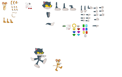 Character Builder Tom and Jerry as mobians by jaedenwalton