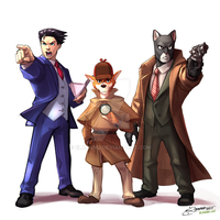 The coolest detective trio by elranno