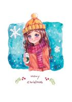 [December's Card 2015 ] Merry christmas by NaiLyn