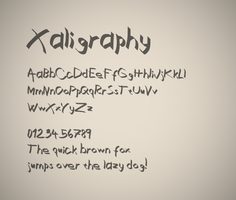 Xaligraphy font by FutureMillennium