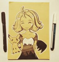 Acerola and Mimikyu by TruiArts