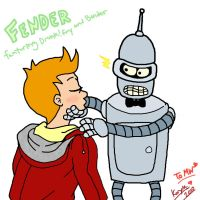 Fry and Bender for MWaters by korychan