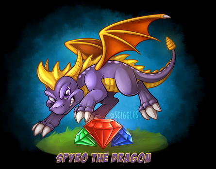 Spyro The Dragon by Sciggles