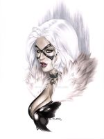 eBas Copic Black Cat Bust by ebas