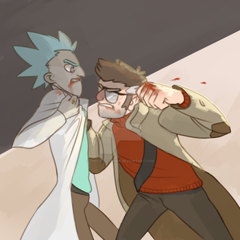 Old Man Fight by twistedCaliber