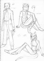 Freelance Character Concept Sketches 01 by GuardianOfTheFlame