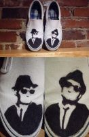 Blues Brothers Shoes by wolfbeaver
