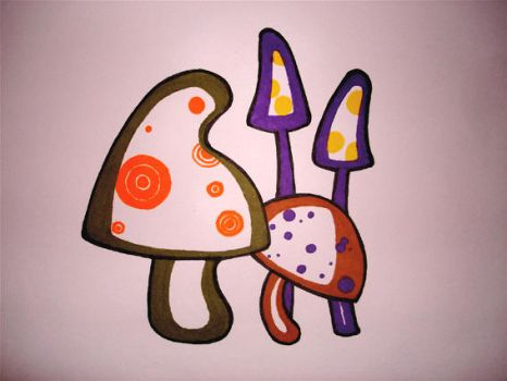 shrooms by erminesmiles