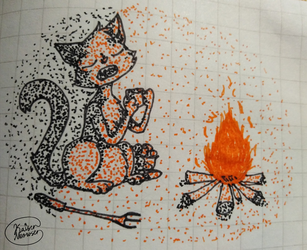 inktober day 3 roasted by KaiserMeowser
