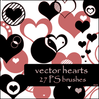 hearts vector brushes by szuia
