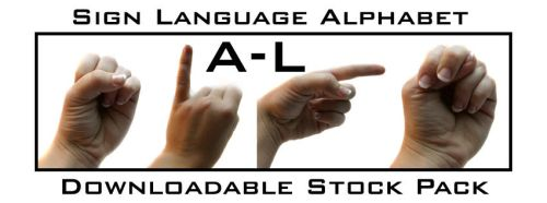 Sign Language AlphabetPack A-L by Della-Stock