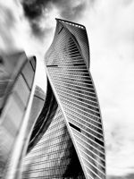 Moscow City black and white by ubinko