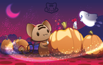 Playing Around the Pumpkins by lafhaha