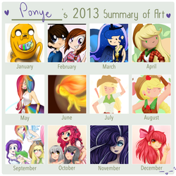 Art Summary 2013 by CosmicPonye