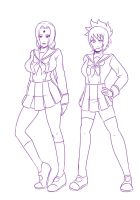 3  Tsunade and Anko uniforms by mattwilson83