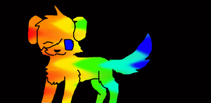 Rainbow dog adopt by NeonCandyLights