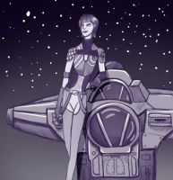 Sabine and the Ghost by a0040pc