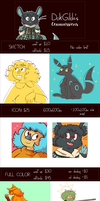 Commission Info and Prices (updated) by DokGilda