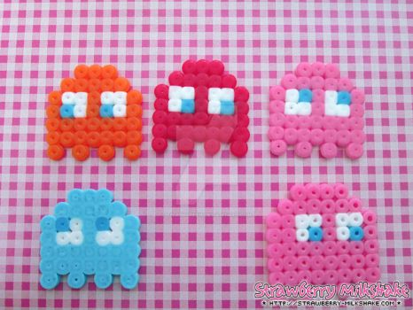 Video Game Hama: *Peckman* Ghosts by FiyahKitteh